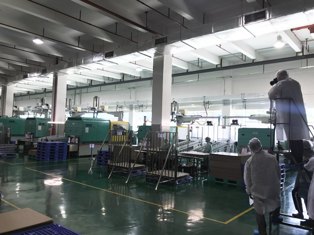 Photographer Mick shoots one of our several plastic injection moulding factory halls.