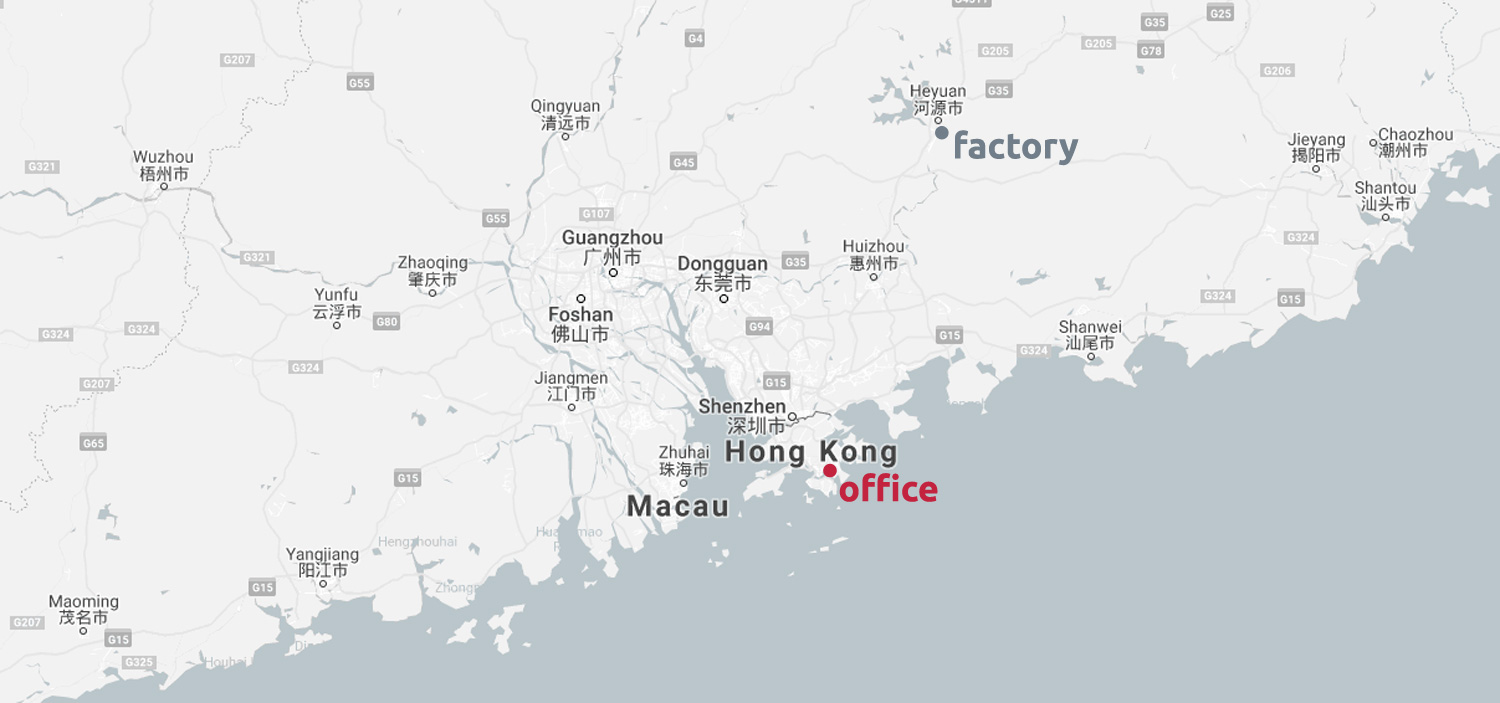 Map of hogan, a plastic injection moulding company in China.